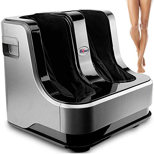 Dr Physio Powerful Electric Leg, Foot and Calf Massager Machine with Vibration & Relaxation-1008 Silver