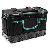 DFJU Caixas de ferramentas portáteis de 16 polegadas, caixa de ferramentas multifunções vestível de Grande capacidade com alça de Ombro