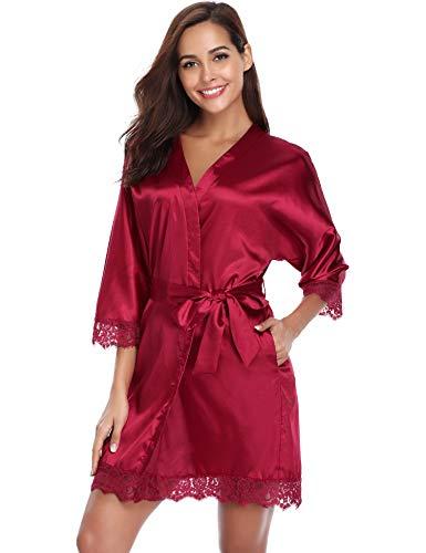 Aibrou Kimono Batas Mujer Encaje Sexy y Elegante Ropa de Dormir Verano para Chica y Mujer