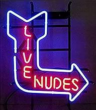 "XPGOODUSA New Live Nudes neon sign-17""×13"" bar Signs for Home Bedroom Garage Neon Decor Wall Window Neon Lights, Striking Neon Lights for Bar Pub Game Room"