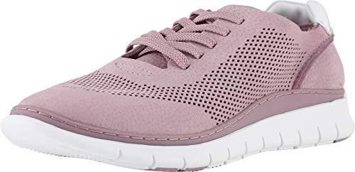 Vionic Fresh Joey Damen Schnür-Sneaker, leichte Wander-Sneaker mit verdeckter orthopädischer Fußgewölbeunterstützung, Violett (mauve), 37 EU