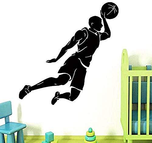 Baloncesto Spieler Aufkleber Sport AufkleberPóster Vinilo WandtattoosBasketball Aufkleber 52X51Cm