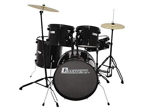 Dimavery DS-200 Schlagzeug-Set, schwarz | 5-teiliges Einsteigerset mit exzellenter Verarbeitung