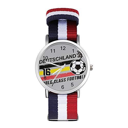 Euro 2016 Football Alemania Alemania Deutschland Ball gris ocio correa reloj trenzado...