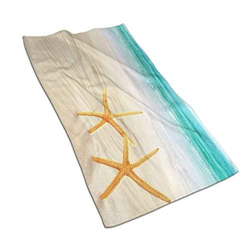 Soft Hand Towel Nautical Sea Shells Star Fish Marine Bath Hand Towels Washcloth for Home/Beach/Yoga 27.5 X 17.5 Inches Ht18 27.5 X 17.5 Inches