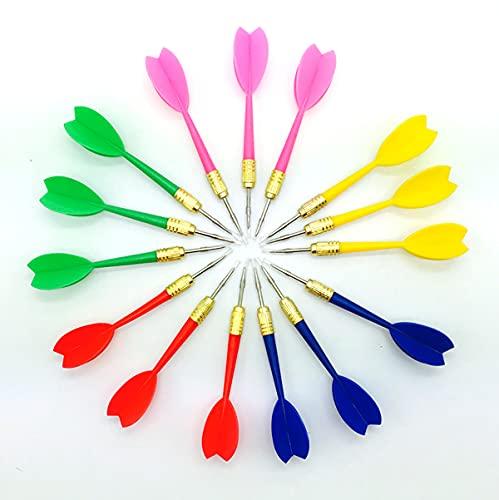 LINGAIXINYUE 15pcs 6g Assorted Color Plastic Dart...