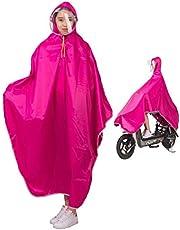 Cisico 男女兼用自転車バイク 長いポンチョ レインコート サイクルレインコート レインポンチョ 厚手生地 防水 通勤 通学 大きい二重ツバ 収納袋付き フリーサイズ4XL(145 * 120 * 140 * 15cm)