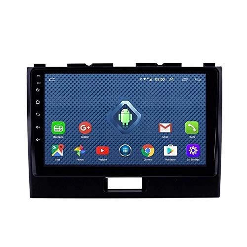 FDGBCF 2Din Bluetooth Car Radio 9 '' Pantalla táctil Car Stereo FM/Am Radio Receptor con Doble USB/AUX-In + Cámara de Respaldo + Control del Volante, para Suzuki Wagon R 2010-2018
