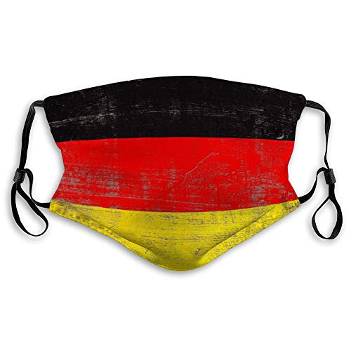 DISGOWONG Anti-Dust Shield for Women and Men d Rendering Germany Flag Scratched Surface Scratched Germany Flag Sport Covers