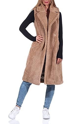 Only Onlevelin Teddy Waistcoat CC Otw Chaleco Abrigo, Nomad, XL para Mujer