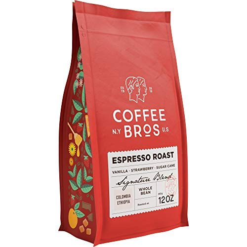 Coffee Bros., Espresso Roast Whole Bean — 100% Arabica — 1 Bag (12oz) — Gourmet & Specialty — Great Holiday Gift