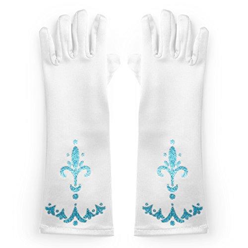 Katara 1098 Gants De Déguisement, Accessoire De Costume De Princesse, Taille Unique Pour Filles Entre 2 Et 9 Ans - Blanc