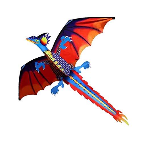HomeDecTime Hermoso Dragon Kite Toy Parque Al Aire Libre Juego de Playa Regalos para Niños