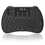 Reiie H9s Mini-Clavier sans Fil, en Disposition AZERTY avec Touchpad pour PC,Mini PC, Raspberry Pi, Android TV Box, KODI, Windows 7/8/10, Linux, MacOS, Consoles de Jeux, Couleur Noir
