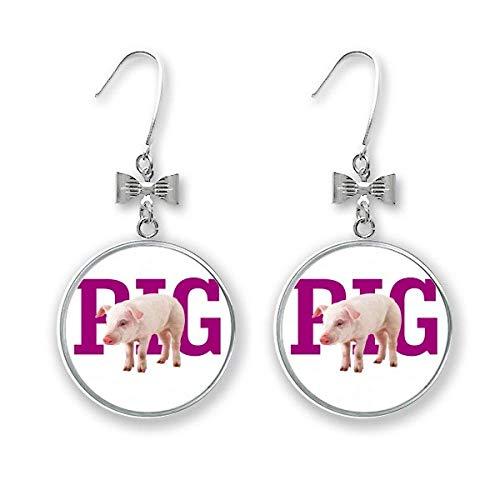 Fashion Food Fleisch Art Deco Geschenk Mode Schleife Ohrringe Ohrhänger Ohrhänger Ohrhaken