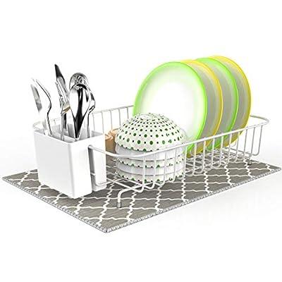 Dish Drying Rack, Veckle Dish Rack with Microfi...