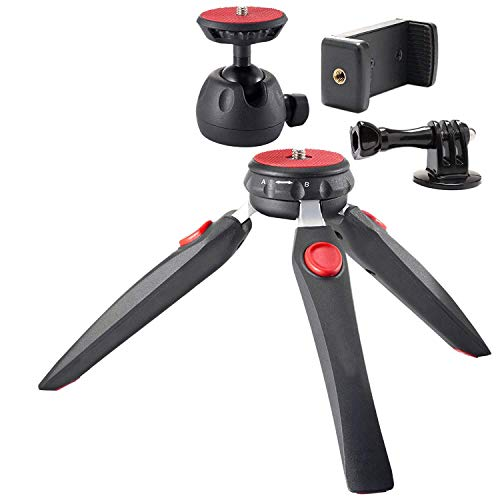 CESULIS Smartphone Holder, Tripod Camera Holder - Premium Tabletop Small Phone Tripod Mount for Iphone/Cell Phones Webcam Projector Compact Dslr - Hand Desktop Tripod Stand Table