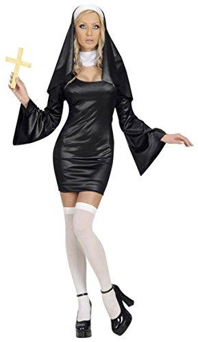 Widmann Damen-Kostüm Nonne, Größe M (36-38), für Schwester, Junggesellinnenabschied, Kostüm, Kostüme