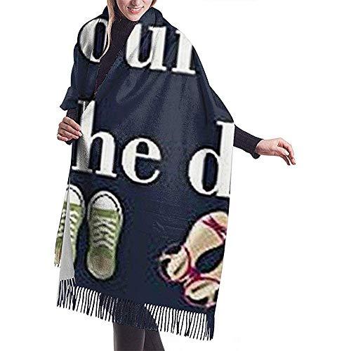 LisaArticles herensjaals met humorvolle, grappige woorden zorgen en je schoenen aan de deur zachte comfortabele uniseks sjaals voor het atletische skivissen