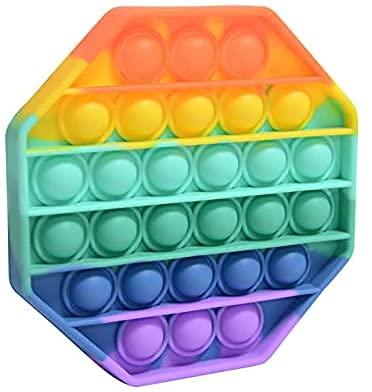HOKIN Push and Pop Bubble Sensory Fidget Toy, Jouets Sensoriels à Presser, Silicone Anti-Stress Jouets de Soulagement de Educatifs Autisme Besoins Spéciaux pour Enfants Adultes (Hexagon)
