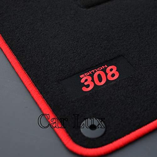 Car Lux AR04145 - Alfombras Alfombrillas Medida Edition Velour para el 308 Desde 2013-