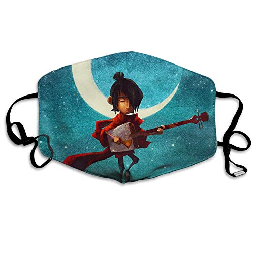 Kubo And The Two Strings Unisex Gesichtsschal Verstellbar Staubdicht Mundschutz Winddicht Face Bandanas Atmungsaktiv Gesichtsbedeckung