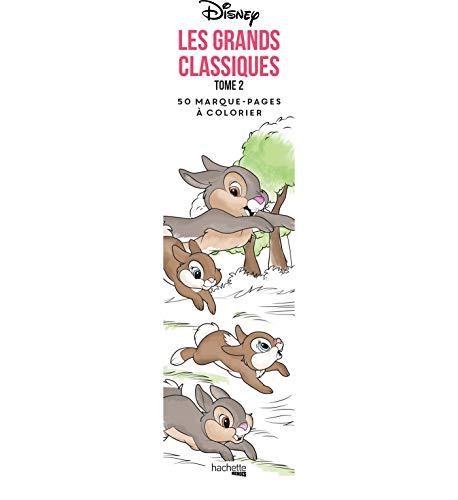 Marque-pages Disney Les Grands classiques Tome 2: 50 marque-pages à colorier