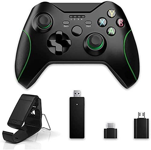 MOCHENG Mando inalámbrico Xbox One, controlador de juego Gamepad 2.4 GHZ compatible con Xbox One/One S/One X/One Series X/S/Elite/PC Windows 7/8/10 con doble vibración incorporada