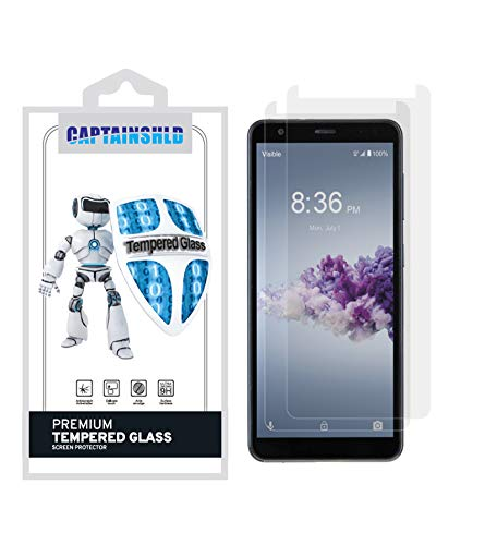 (2 Pack) CaptainShld for ZTE Gabb Z2 Screen Protector Tempered Glass, Anti Scratch, 9H Hardness, Bubble Free