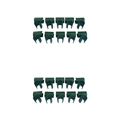 MERIGLARE 20 Conectores de Estaca de Planta de Celosía de Abrazaderas Cruzadas Duraderas