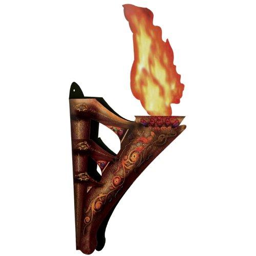 Beistle 00123 3-D Wandfackel mit Flamme 2er-Set One Size Nicht zutreffend