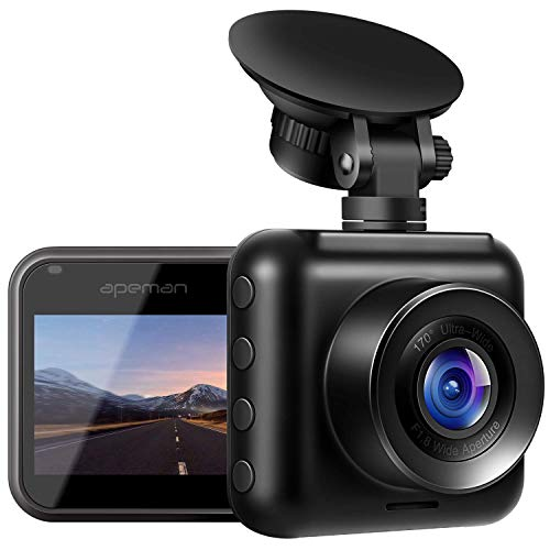APEMAN Mini Dash Cam 1080P Dash Camera for Cars Recorder Super Night Vision, 170° Wide Angle, Motion Detection, Parking Monitoring, G-Sensor, Loop Recording …