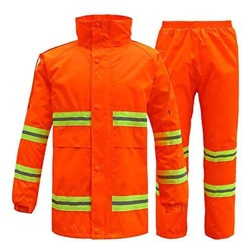 Bestand douche proof regenafstotend winddicht outdoor heren volwassenen regenboog oranje rood reflecterend pak split pak Raincoat 170