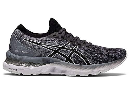 ASICS Women s Gel-Nimbus 23 Knit Running Shoes, 5.5M, Sheet Rock Black