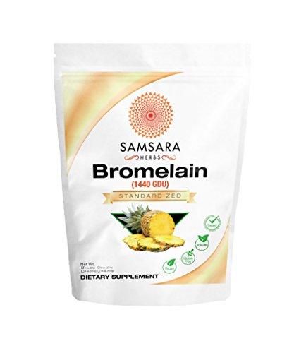 Samsara Herbs Bromelain Extract Powder (2oz/57g) - 1440 GDU Concentration