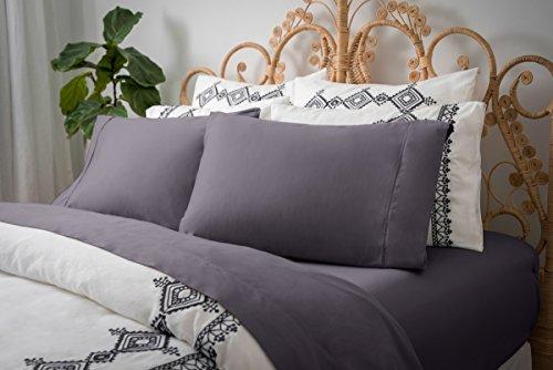 Magnolia Organics Dream Collection Pillowcase Pair - Standard, Elderberry Grey