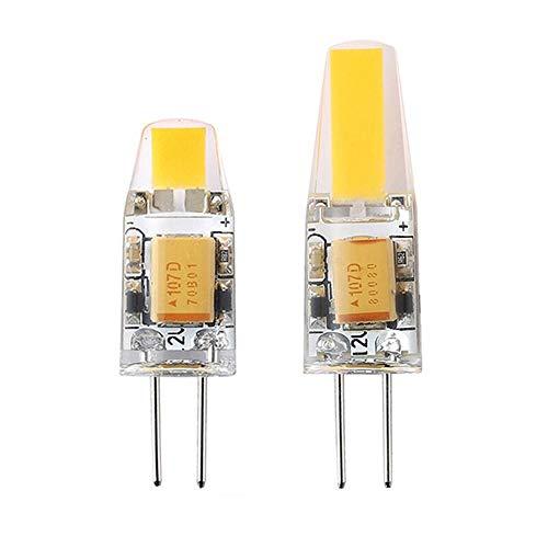 G4 LED Lampe 3W 6W G4 COB LED Birne 12V AC/DC Mini G4 LED Licht 360 Abstrahlwinkel Ersetzen Halogenlampe Kronleuchter Lichter Unterstützung Dimmer 6pcs, 12V G4 3W, warmweiß
