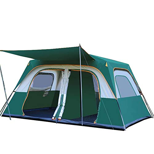 Tent Outdoor two-bedroom and one-living room thick Oxford cloth hydraulic automatic camping super large 8-12 people