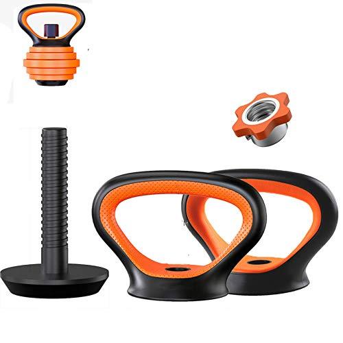 Gululu Gimnasio Casa Fitness Ajustables de Uso para Placas de Peso de La Fuerza en El Brazo Hervidor de Entrenamiento Bell Agarre Pesa Push Ups