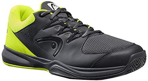 HEAD Brazer 2.0, Chaussures de Tennis Homme, Gris (Anthracite/Neon Yellow Anny), 40 EU