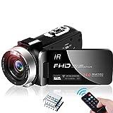 Videocamera Videocamere Full HD 1080P 30FPS Videocamera Digitale 24MP IR Visione Notturna 16X Zoom...
