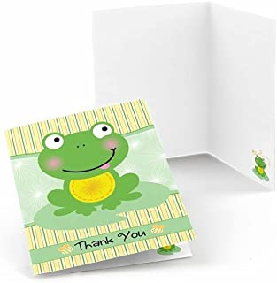 Big Dot of Happiness Froggy Frog - Baby Shower or Birthday Party Thank You Cards (8 Count)