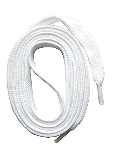 SNORS flache Schnürsenkel WEISS 130cm, 7-8mm, reißfest, Polyester, Made in Germany für Sportschuhe Sneaker Turnschuhe und Laufschuhe - ÖkoTex