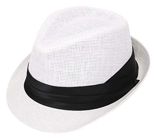 Verabella - Sombrero de sol para mujer y hombre, diseño de ala corta, Fedoras, S-M, 7natural