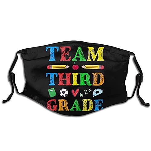 Team Tercer Grado Impreso M-A-S-Ks Adulto Anti-Polvo Lavable Reutilizable Divertido Cara Pañuelo Transpirable Cara Bucles Ajustable
