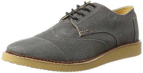 TOMS, Zapatos de Cordones Brogue para Hombre, Gris (Ash Aviator Twill), 41 EU