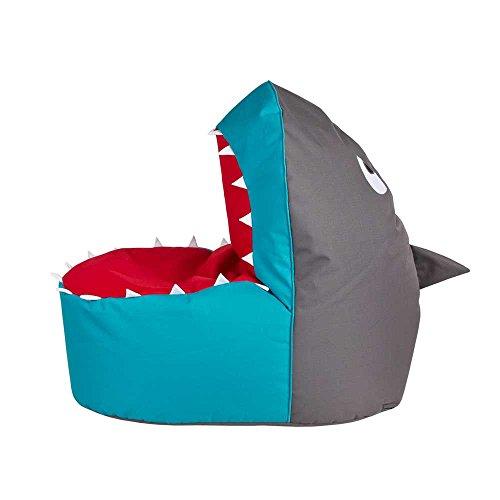 Pharao24 Kinder Sitzsack im Hai Design XL