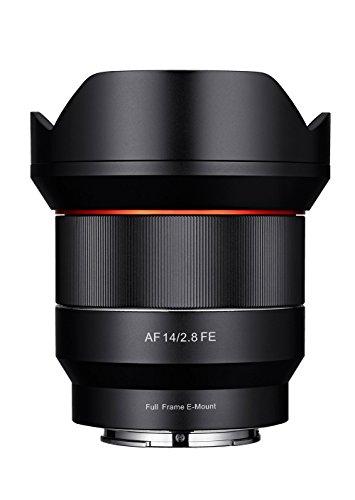 Samyang AF 14 mm F2.8 Sony FE - autofocus ultrabreedhoek lens met 14 mm vaste brandpuntsafstand voor spiegelloze Sony full formaat en APS-C camera's met Sony E Mount, metalen behuizing, Ø lens 86 mm