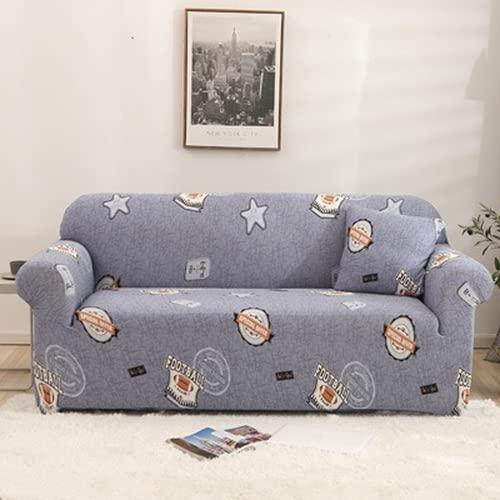 Fundas Sofa elasticas, Fundas de Sofa Ajustables, Tejido de poliéster Estampado, Elástico, Todo Incluido, Suave y cómodo, Lavable a máquina (DA11,2 Seater 135-175cm)
