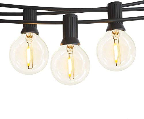EOYIZW Outdoor String Lights LED, 35FT Upgraded 30+2 Globe Plastic 0.1W G40 Bulb Garden String Light-Outdoor Indoor IP65 Waterproof Lighting for Patio Backyard Cafe Wedding Party Bedroom Decorative